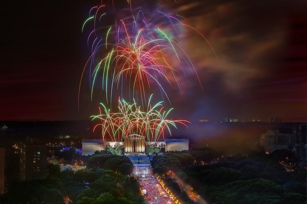 fireworks, Philadelphia Museum of Art