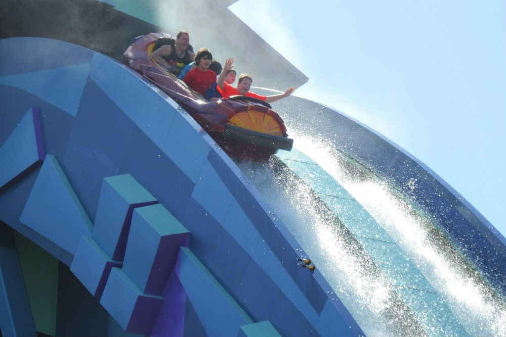 At Universal Islands of Adventure in Florida when he was 12