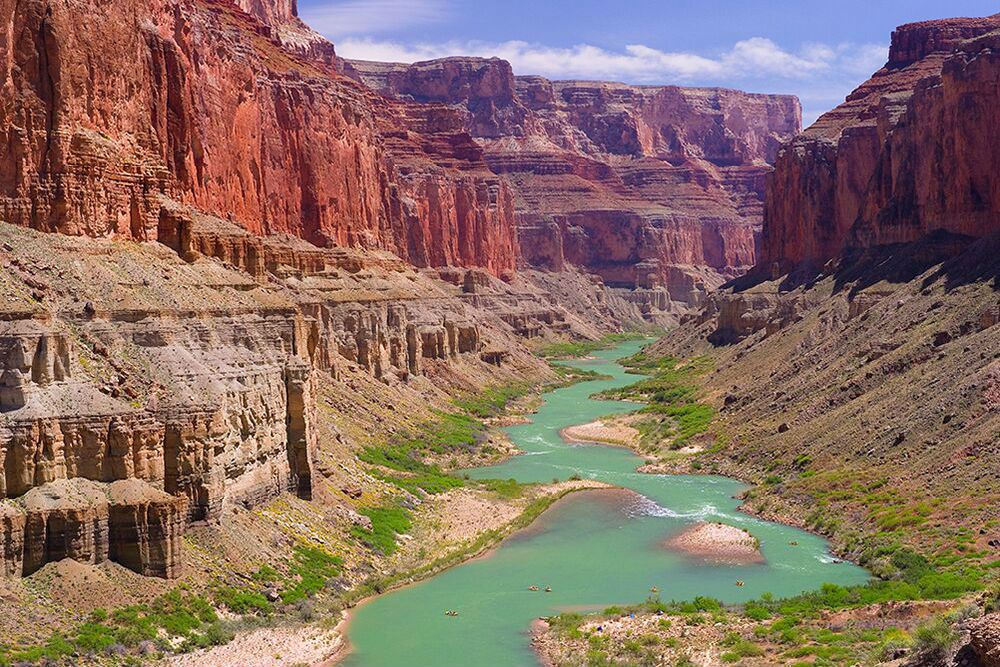 The Colorado River flowing through the Grand Canyon. Photo courtesy O.A.R.S