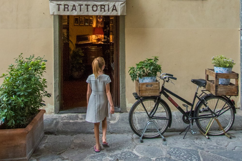 trattoria entrance Florence Italy
