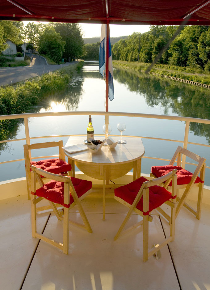 canal barge cruise deck