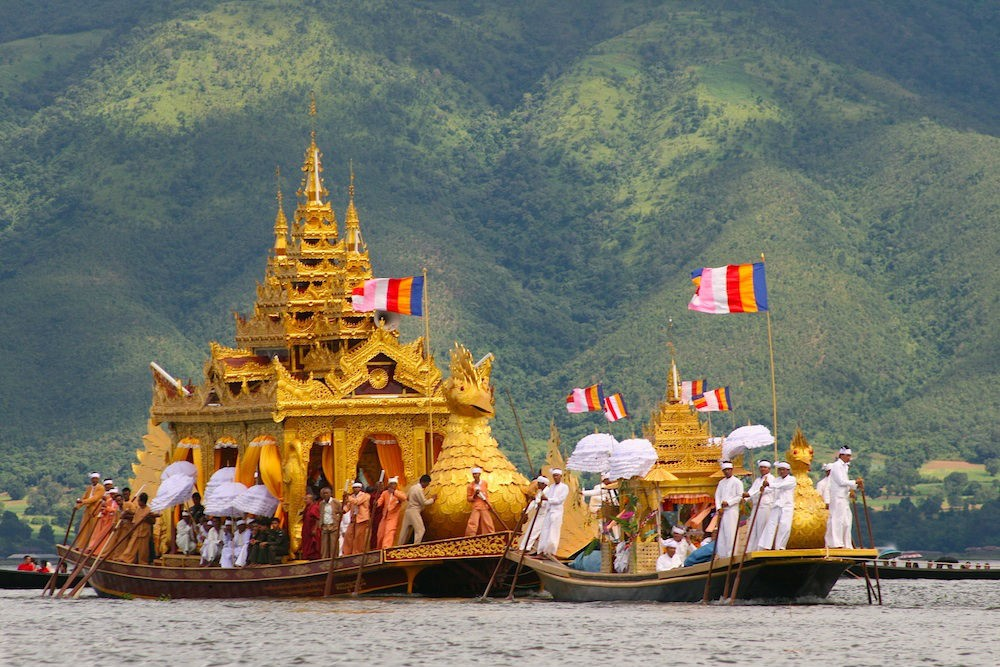 The Pagoda Festival on Inle Lake. Photo courtesy Allie Almario.