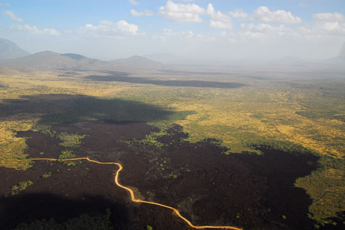 Shetani lava flow in Tsavo West, Kenya