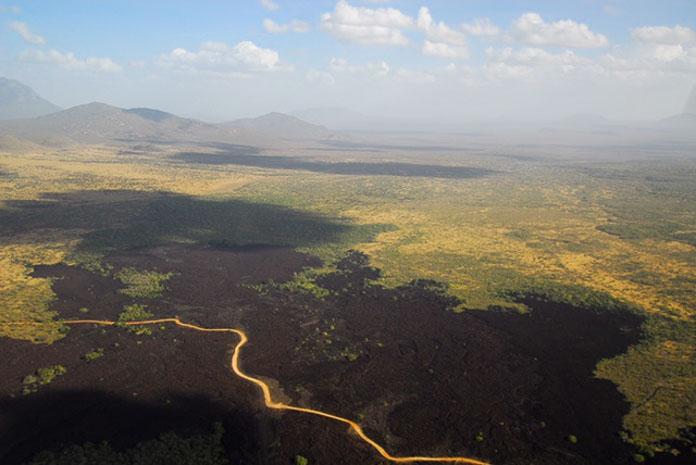 Shetani lava flow in Tsavo West, Kenya