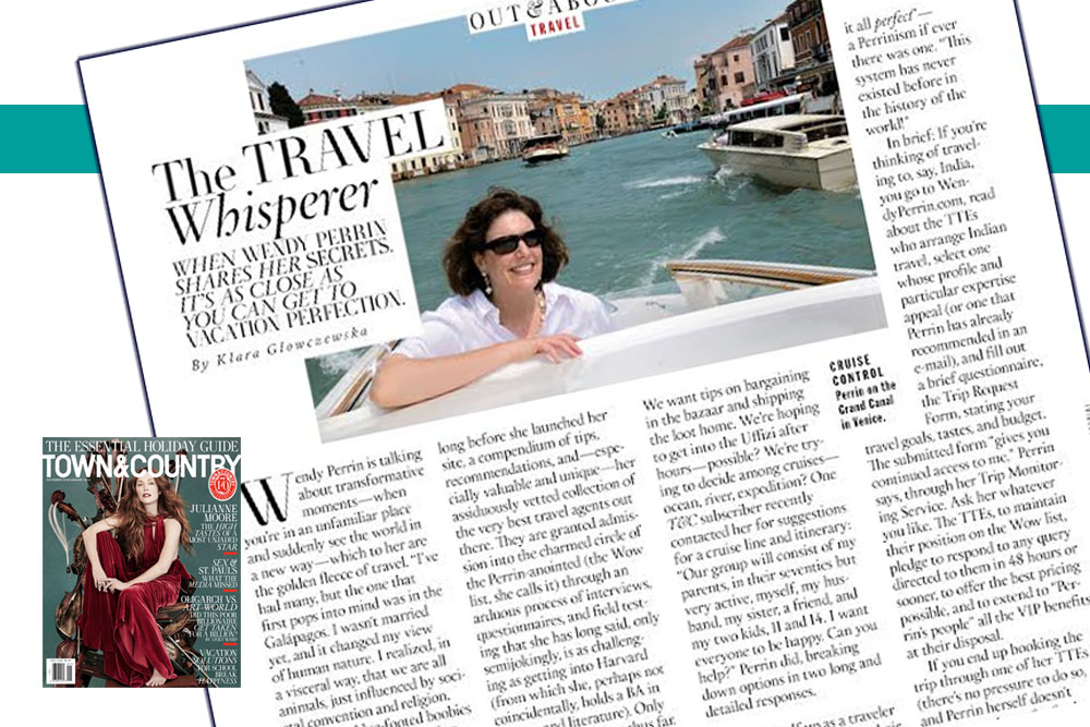 Town&Country interviewed me in the December 2015/January 2016 issue.