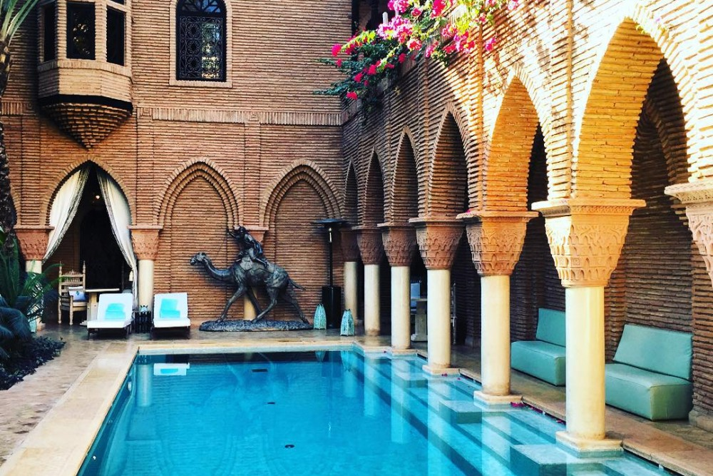 Not your average #hotel #pool. @lasultanahotels #Marrakech