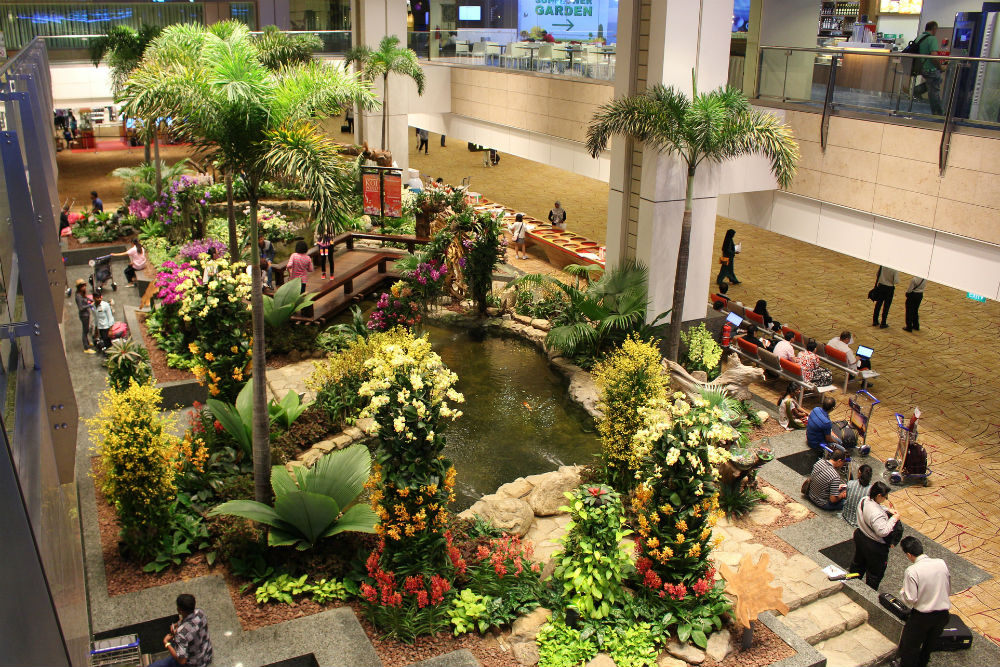 Singapore's Changi Airport has several gardens