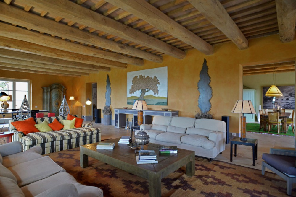living room in an Italian vacation rental