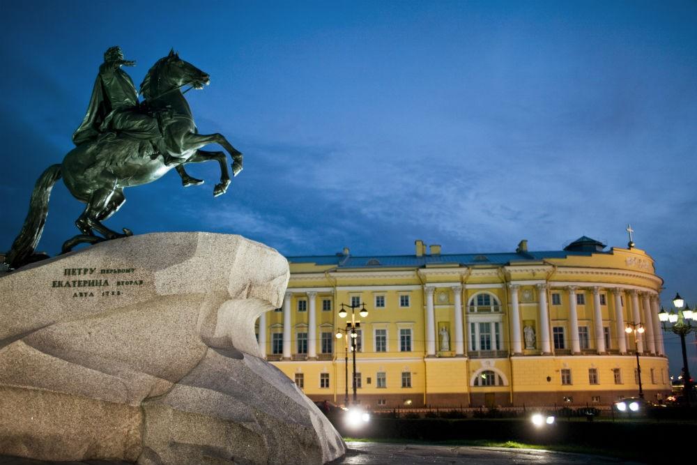St Petersburg, Russia, at night. Photo: Exeter International