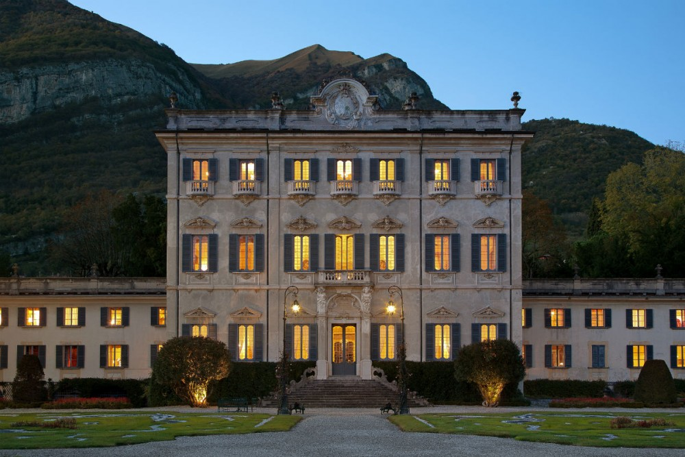 italian villa on lake como