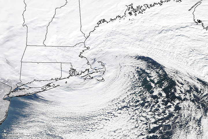Winter storms can make travel difficult, but if you have the right tools at least it won't be stressful. (Photo: NASA Earth Observatory/Flickr)