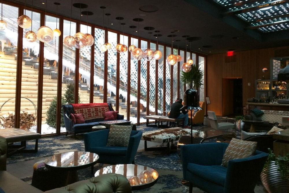 Lobby bar of the Dream Downtown. Photo: Billie Cohen