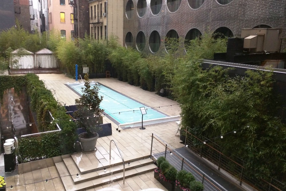 The rooftop pool area at the Dream Downtown. Photo: Billie Cohen