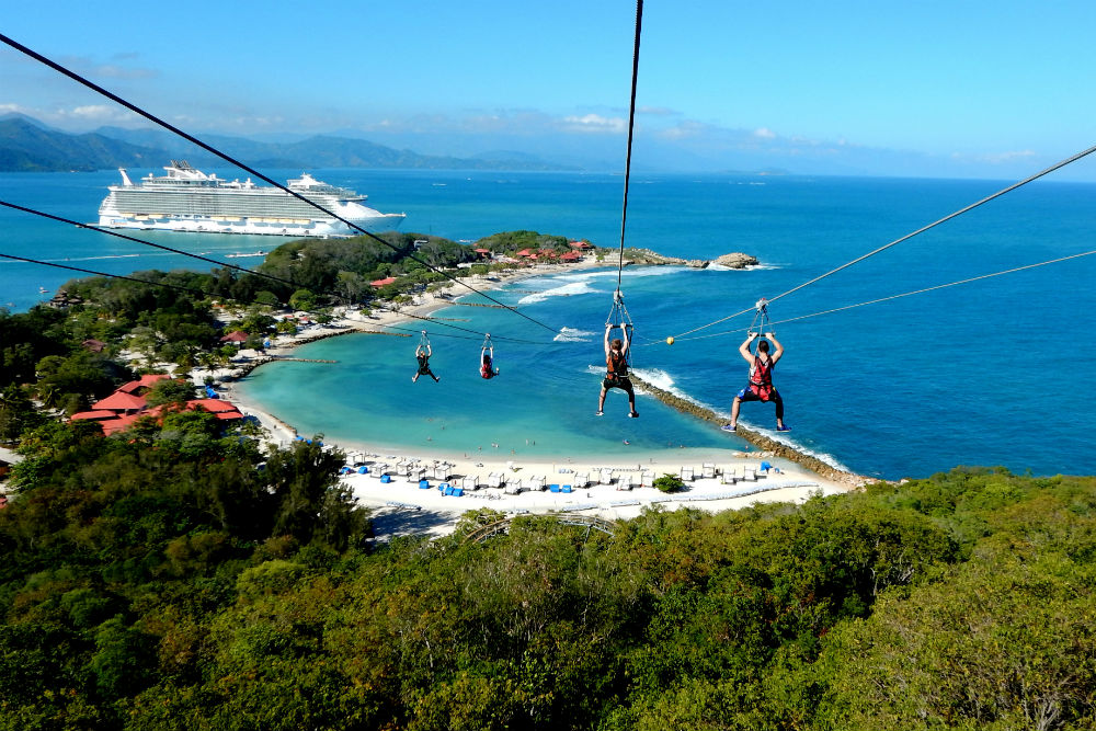 Royal Caribbean's Labadee Flight Line zip-line