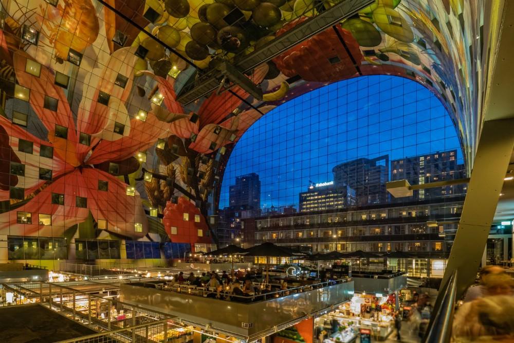 Markthal (or Market Hall), Rotterdam, Netherlands. Photo: Frans Berkelaar/Flickr