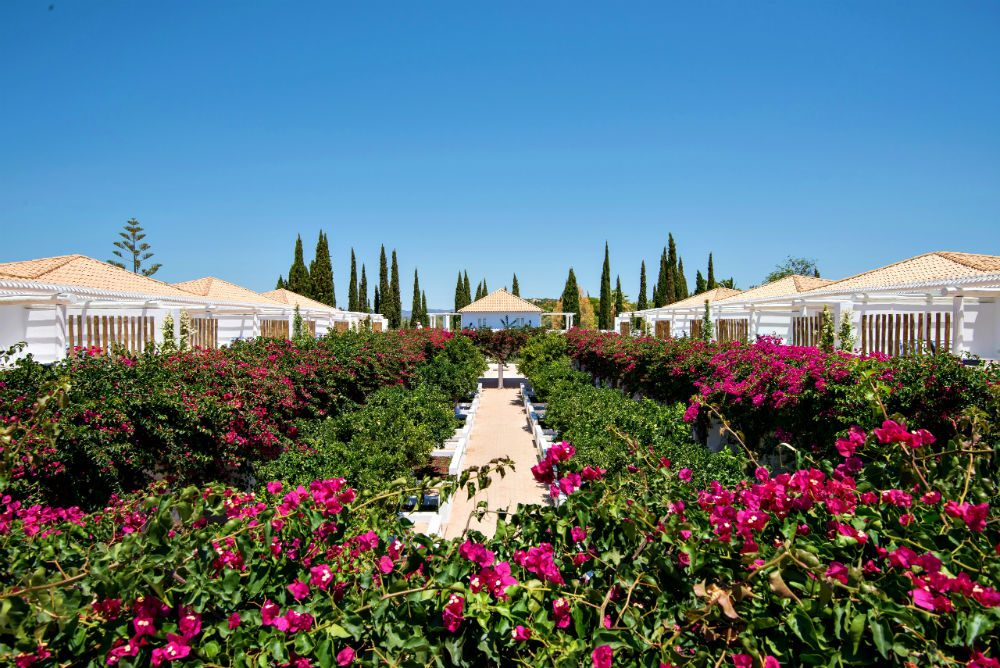 gardens at Vila Monte Farm House hotel in the Algarve Portugal