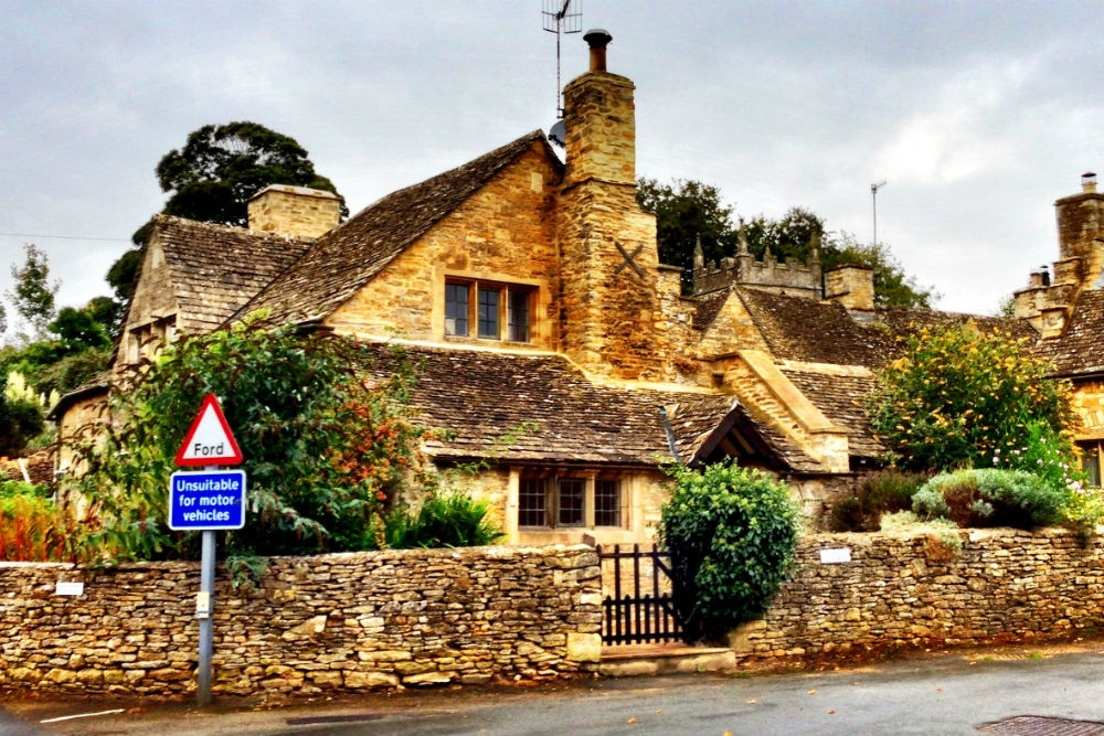 village of Upper Slaughter, Cotswolds, England