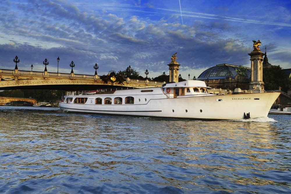 Floating down the Seine on a Yacht de Paris