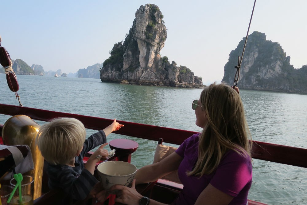 Halong Bay vietnam with kids