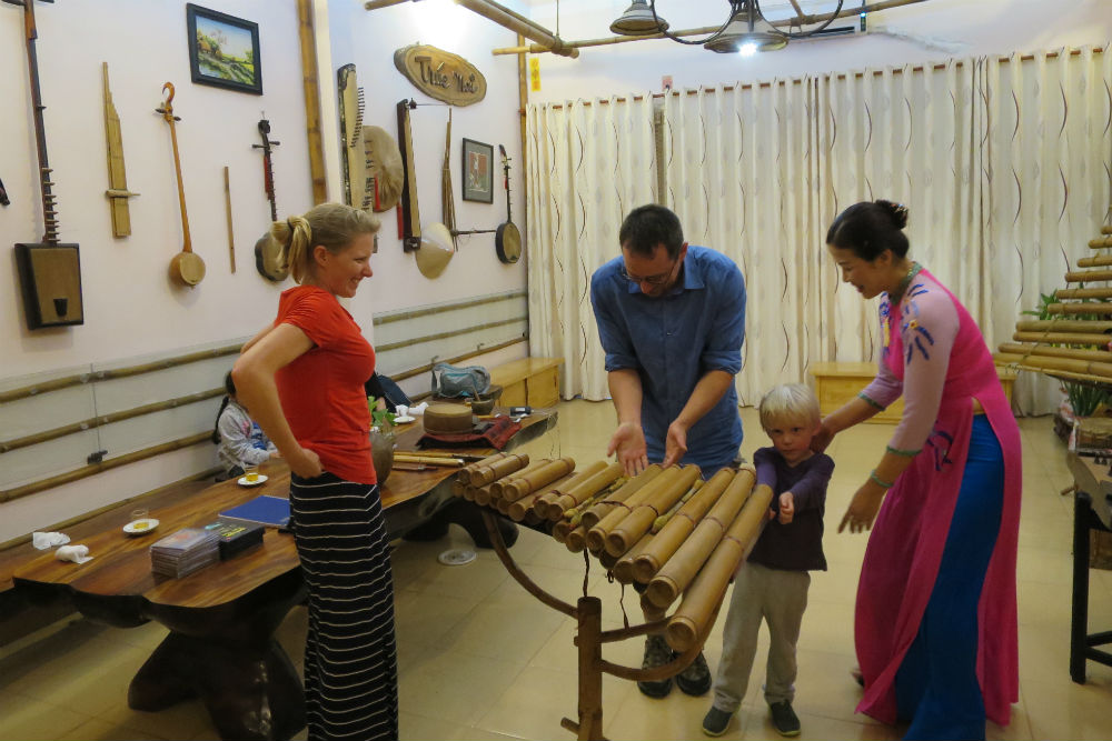 A Vietnamese family played their collection of traditional instruments for us in Saigon