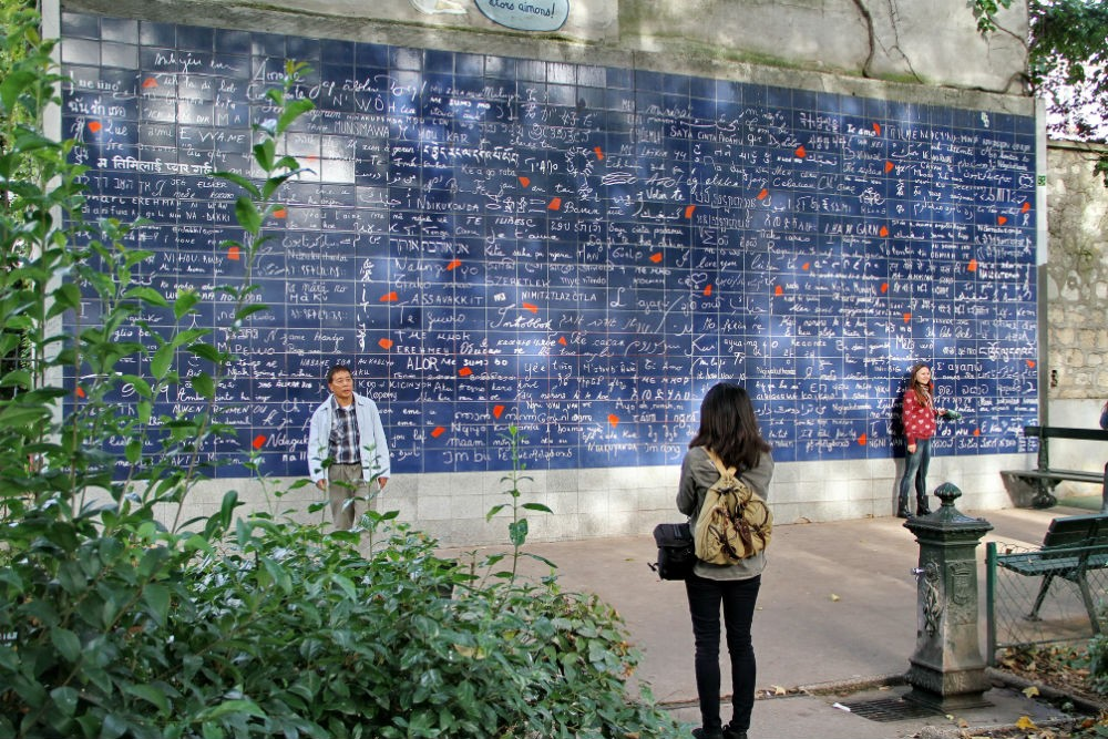 "The ""I Love You"" wall mural in Montmartre, Paris"