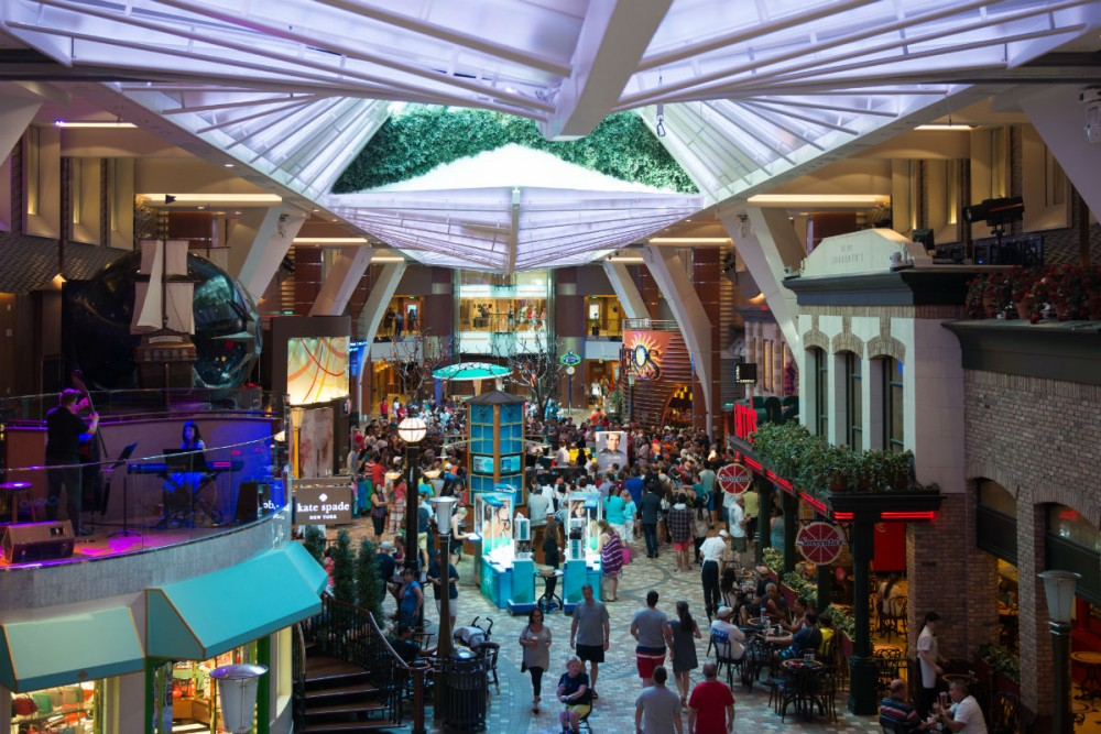 Royal Promenade on Royal Caribbean's Allure of the Seas cruise ship