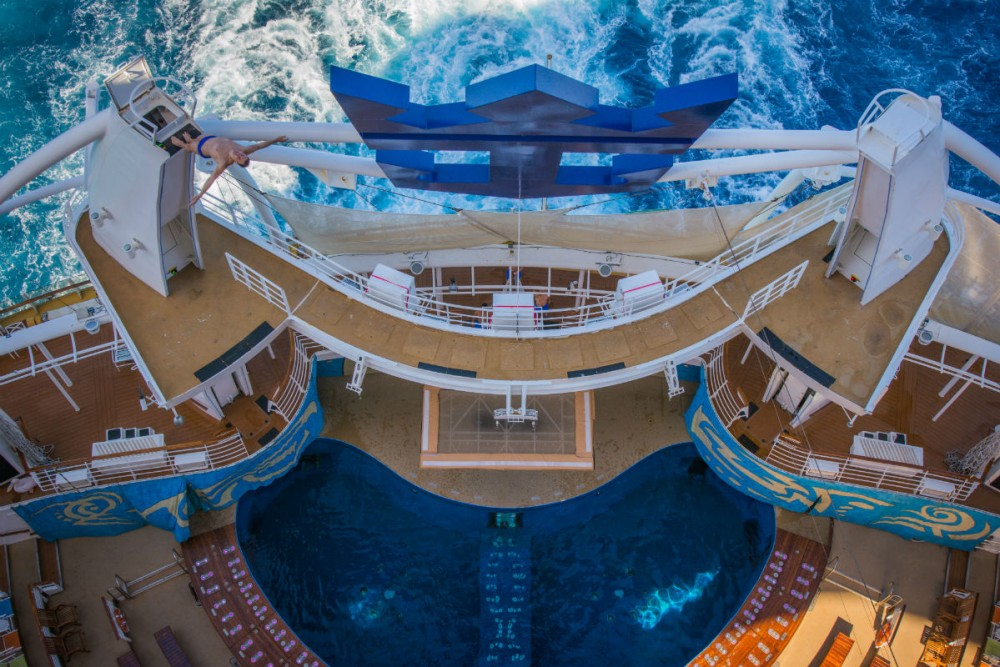 Aqua show on Royal Caribbean's Allure of the Seas cruise ship