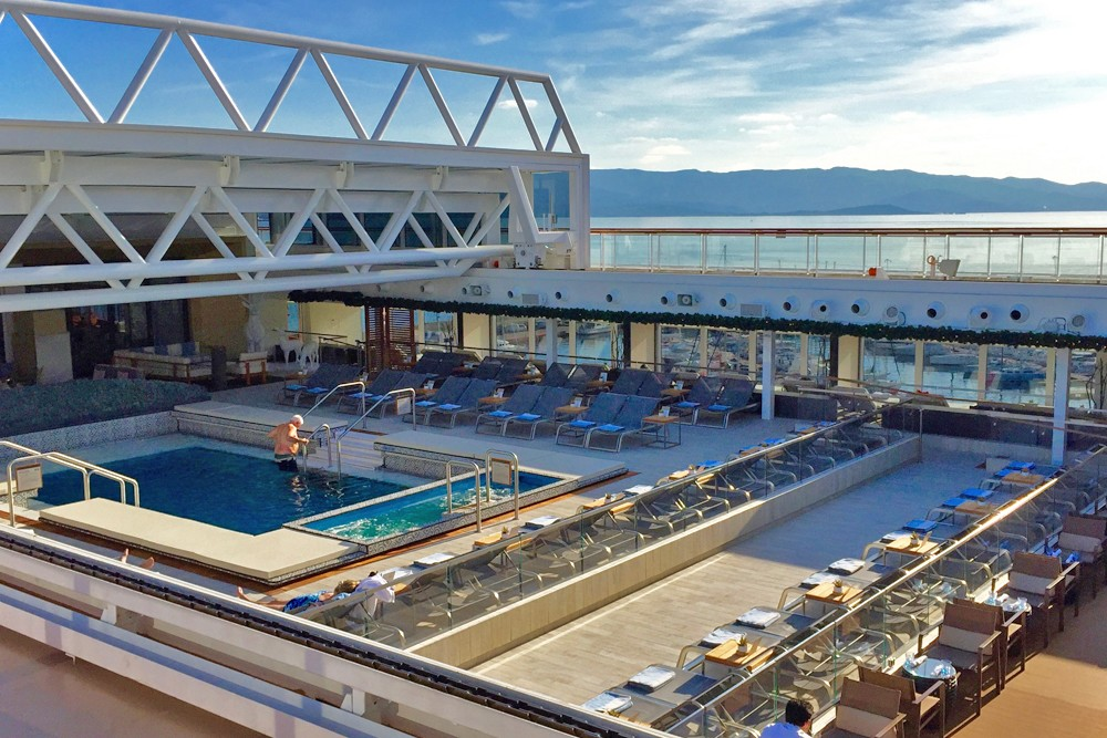 main pool on Viking Star cruise ship