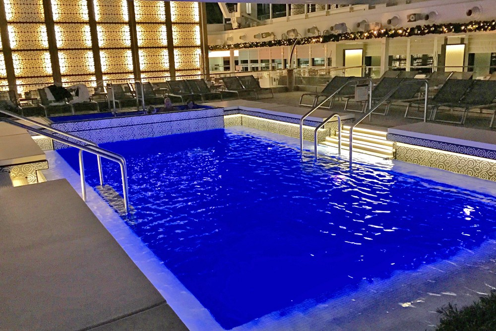 main pool on Viking Star cruise ship