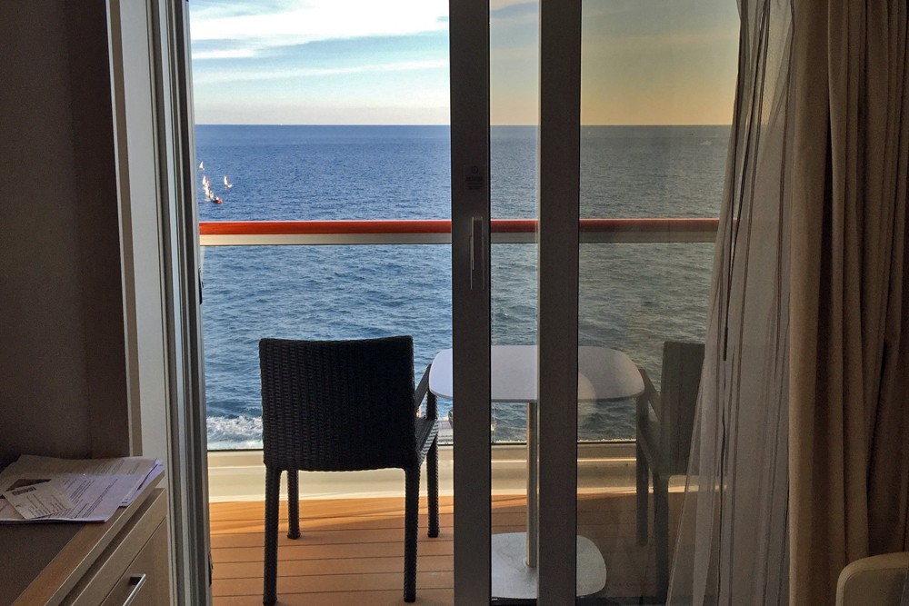 cabin balcony on Viking Star cruise ship