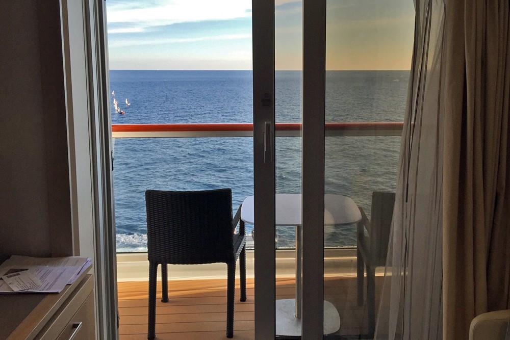 cabin balcony on Viking Star cruise ship