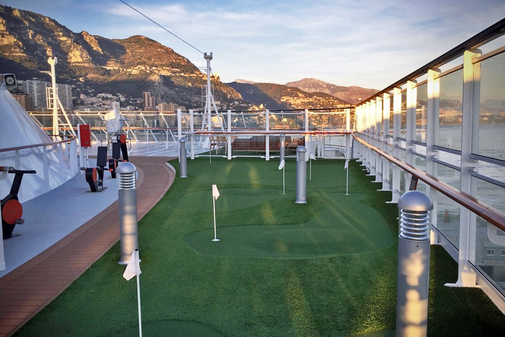 putting green on Viking Star cruise ship