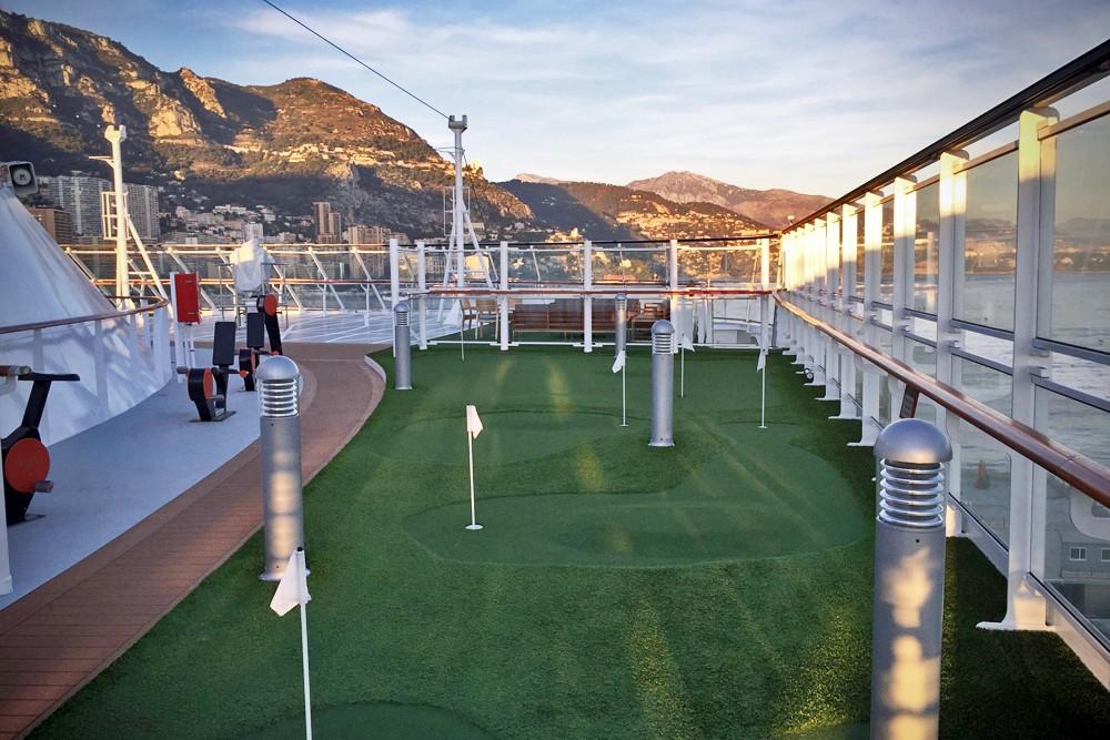 putting green on Viking Star cruise ship