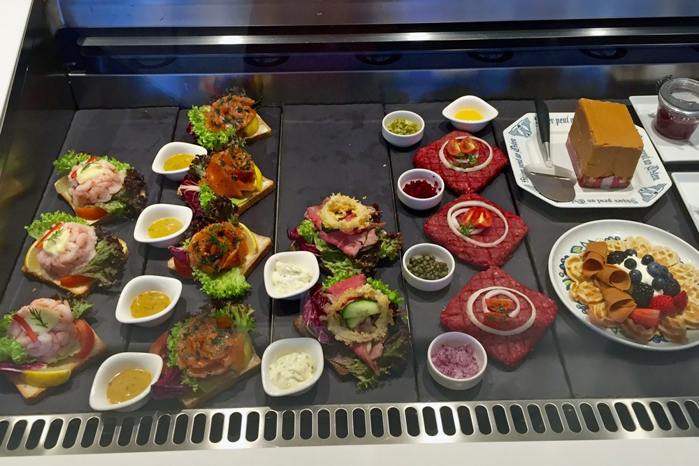 Norwegian deli food on Viking Star cruise ship