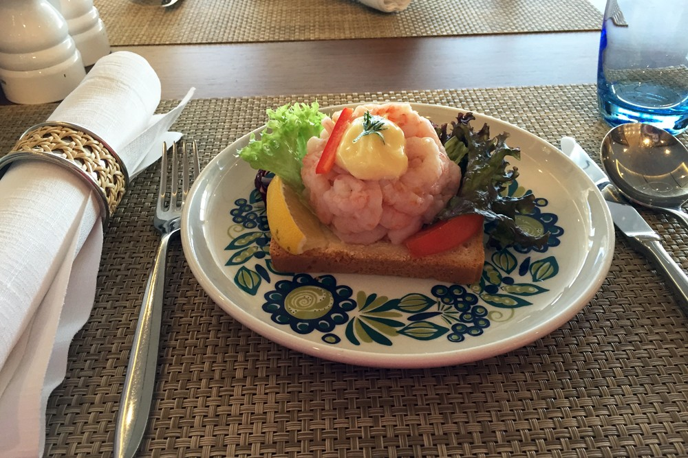 lunch on Viking Star cruise ship