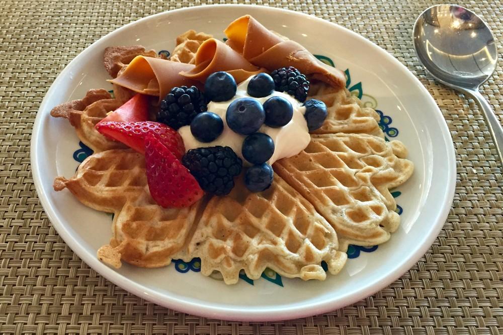 waffles on Viking Star cruise ship