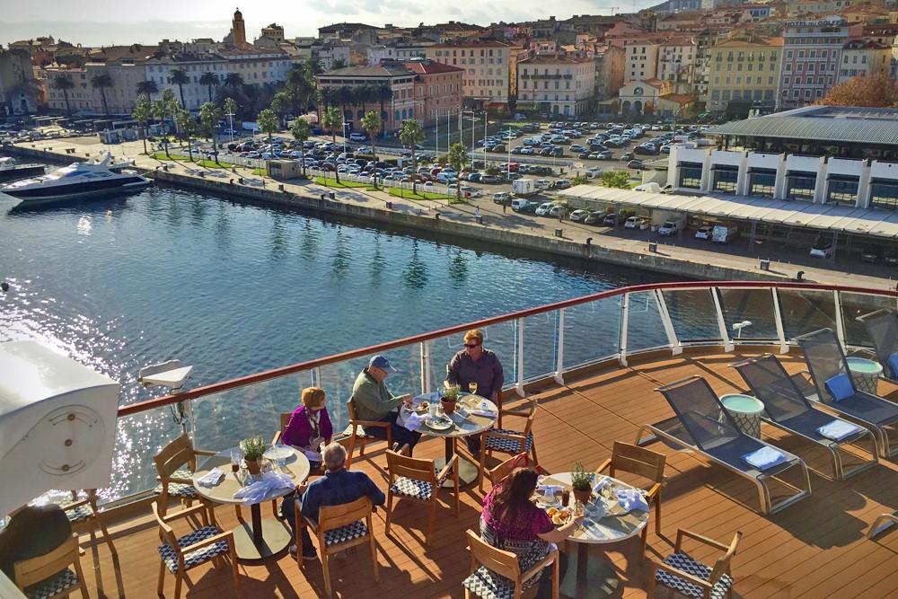 Lunch al fresco on Viking Star cruise ship