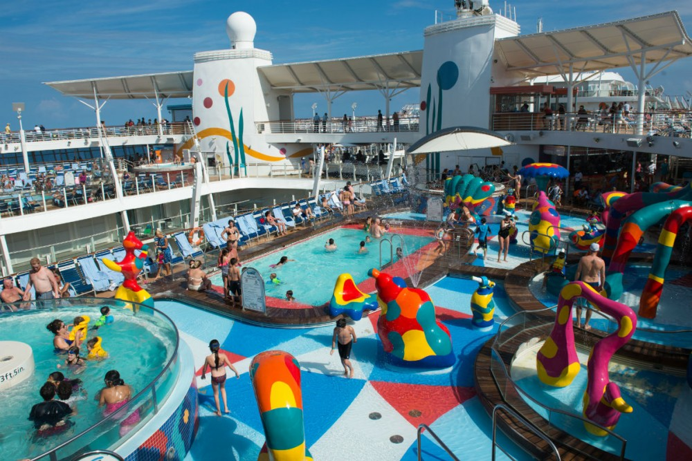 kiddie pool Royal Caribbean's Allure of the Seas cruise ship