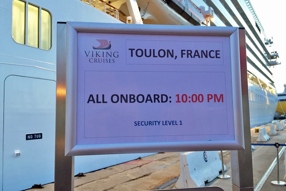 all onboard sign on Viking Star cruise ship