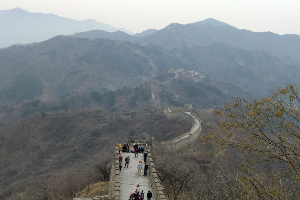 Great Wall of China part that juts out