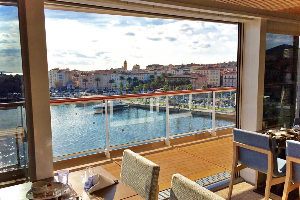big windows on Viking Star cruise ship