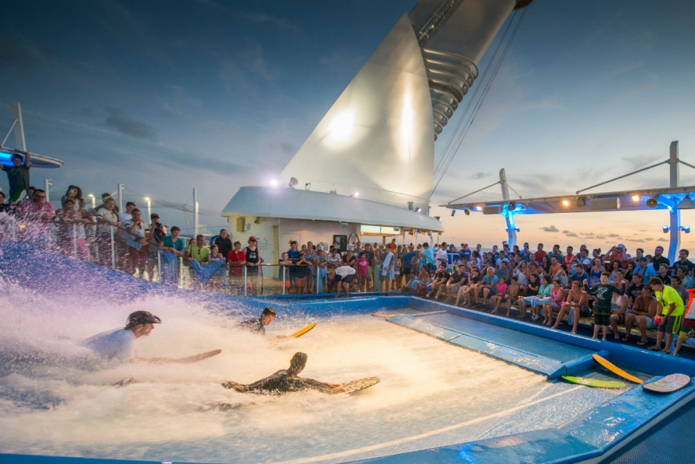 Flow Rider staff show on Royal Caribbean's Allure of the Seas