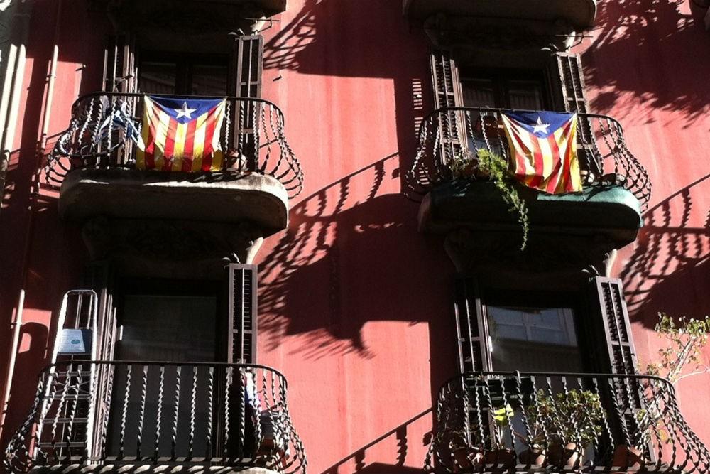Catalan flags in Gracia, Barcelona, Spain. Photo: Context Travel