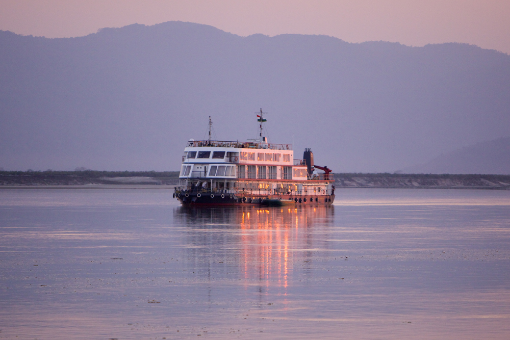 Brahmaputra river cruise, Northeast India. Photo by Sanjay Saxena.