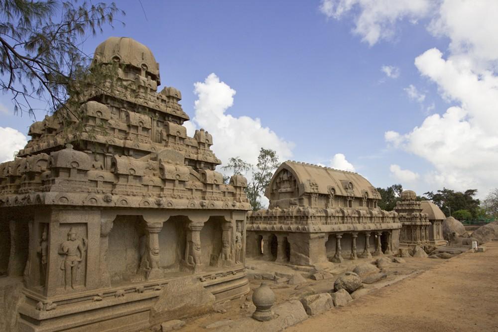 Mahabalipuram shore temples in South India. Photo by: Sanjay Saxena.