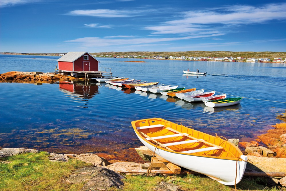 boats in the town Joe Batt's Arm, Fogo Island, Newfoundland and Labrador, Canada