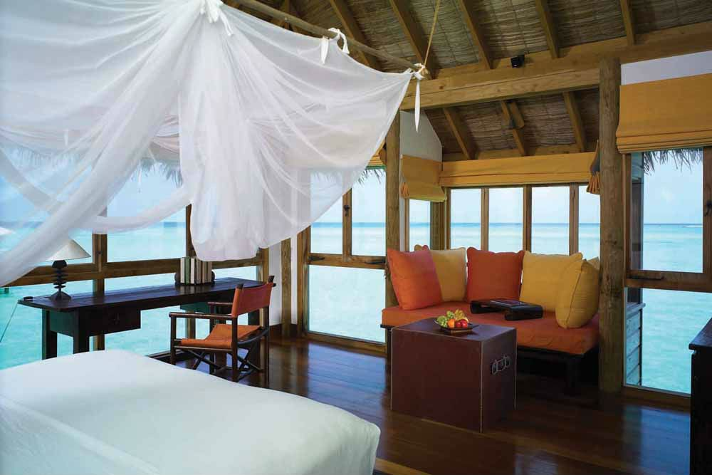 One of the suites at Gili Lankanfushi, Maldives.