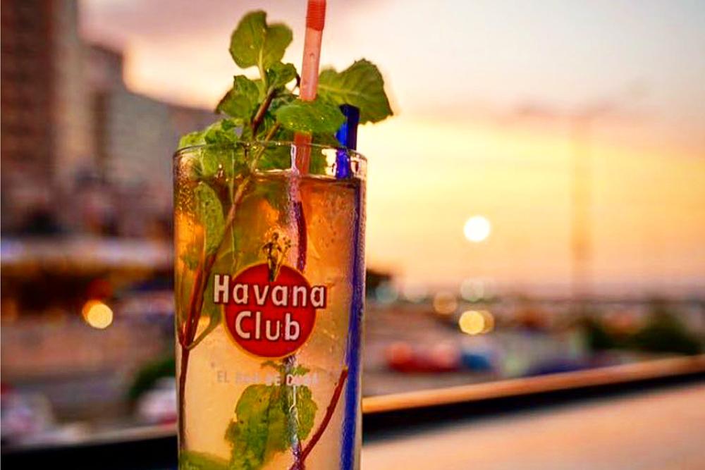 A sunset with a Havana Club Rum, Havana, Cuba. Photo: John Kaminski.