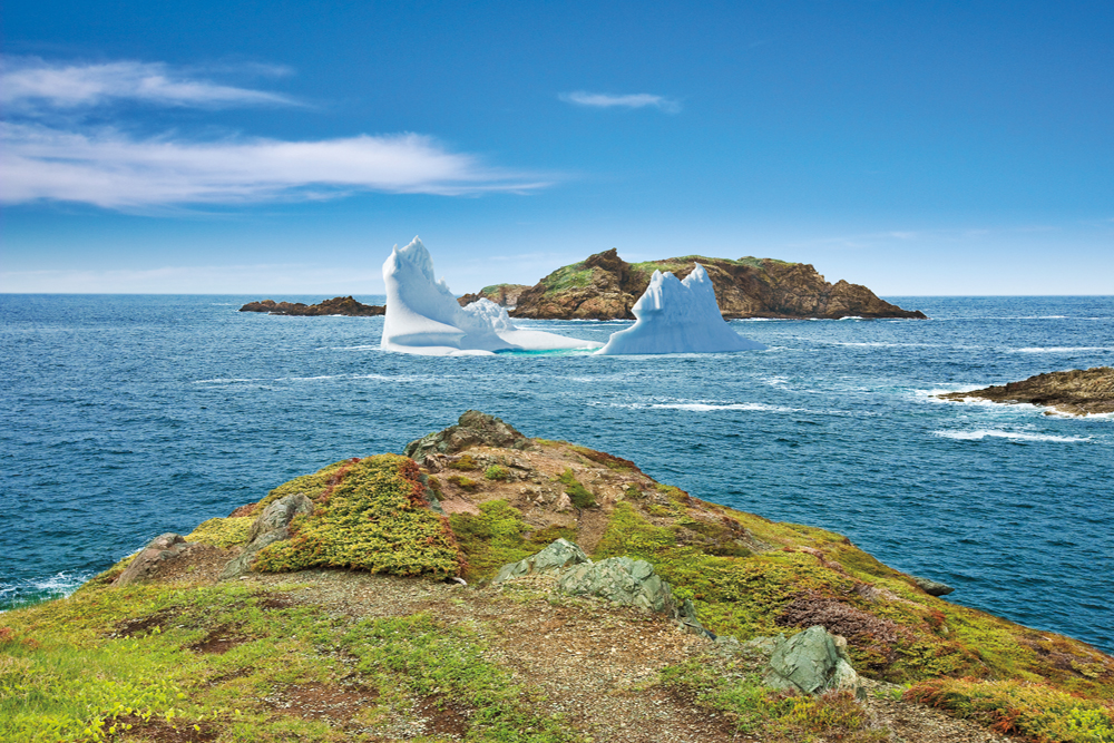 The coastline of Twillingate, New World Islands, Newfoundland and Labrador, Canada