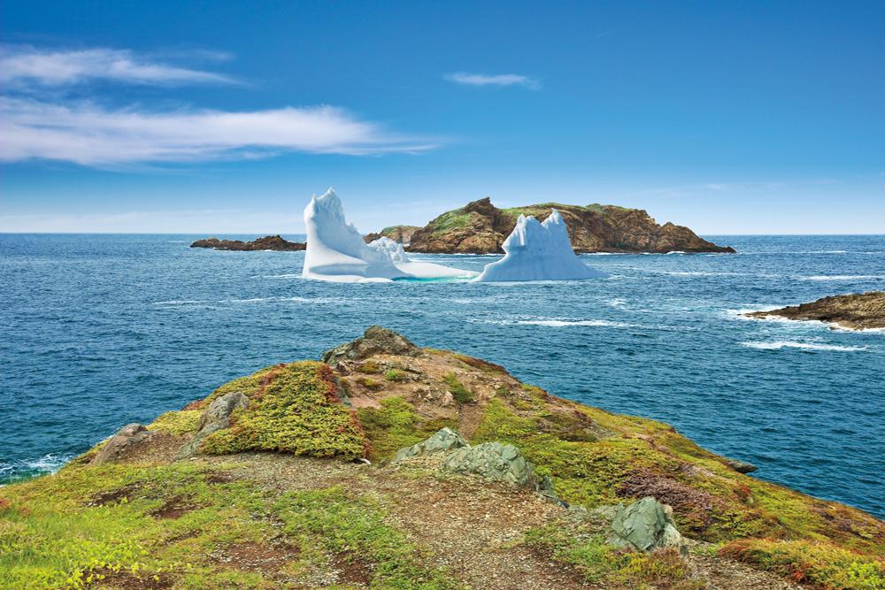 The coastline of Twillingate, New World Islands, Newfoundland and Labrador, Canada